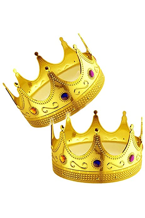 Costume Crown Tiara Hat King Cosplay Cap Royalty Party Fashion Fancy Dress Up QP