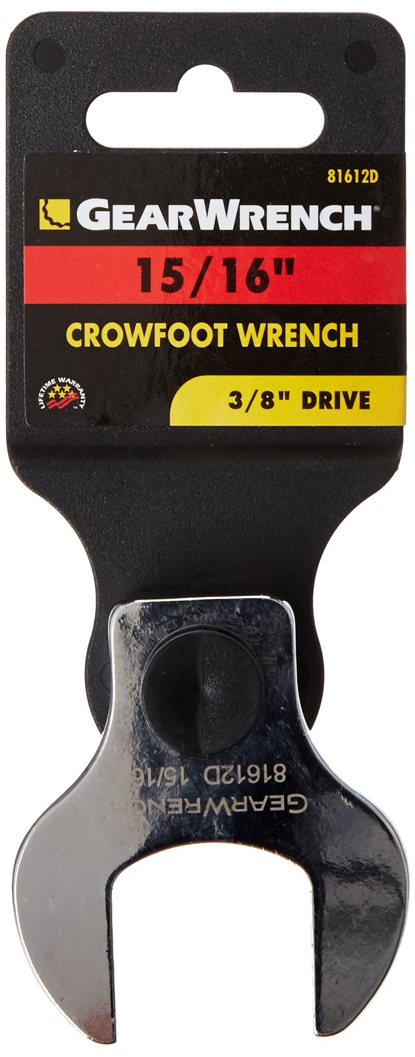 GearWrench 81612 3/8-Inch Drive Crowfoot Wrench 15/16-Inch