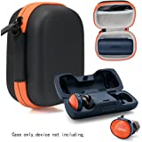Featured Protective Case for Bose SoundSport Free Truely Wireless Sport Headphones Charger Box, Mesh Pocket for Cable and Other Accessories (Frosted Black with Orange Zipper)