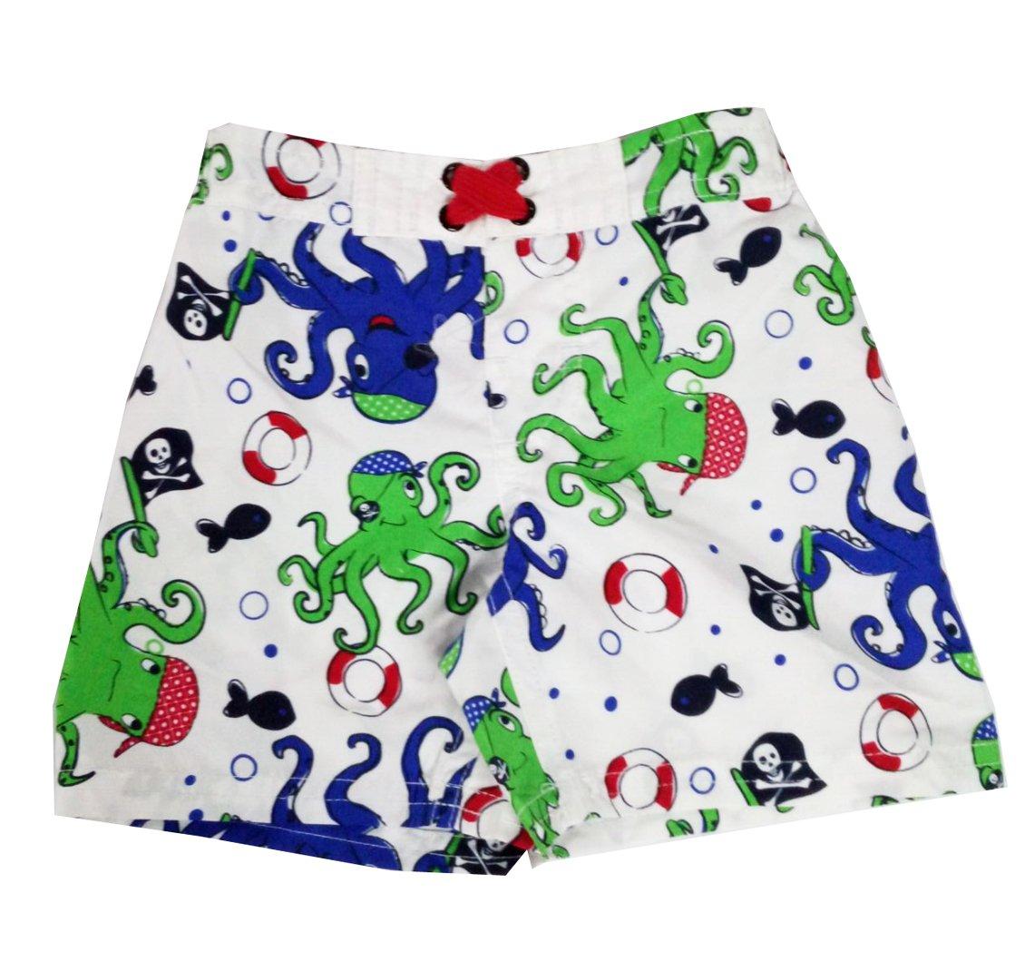 Baby Boy Swim Trunks Octopus Beach Swim Short