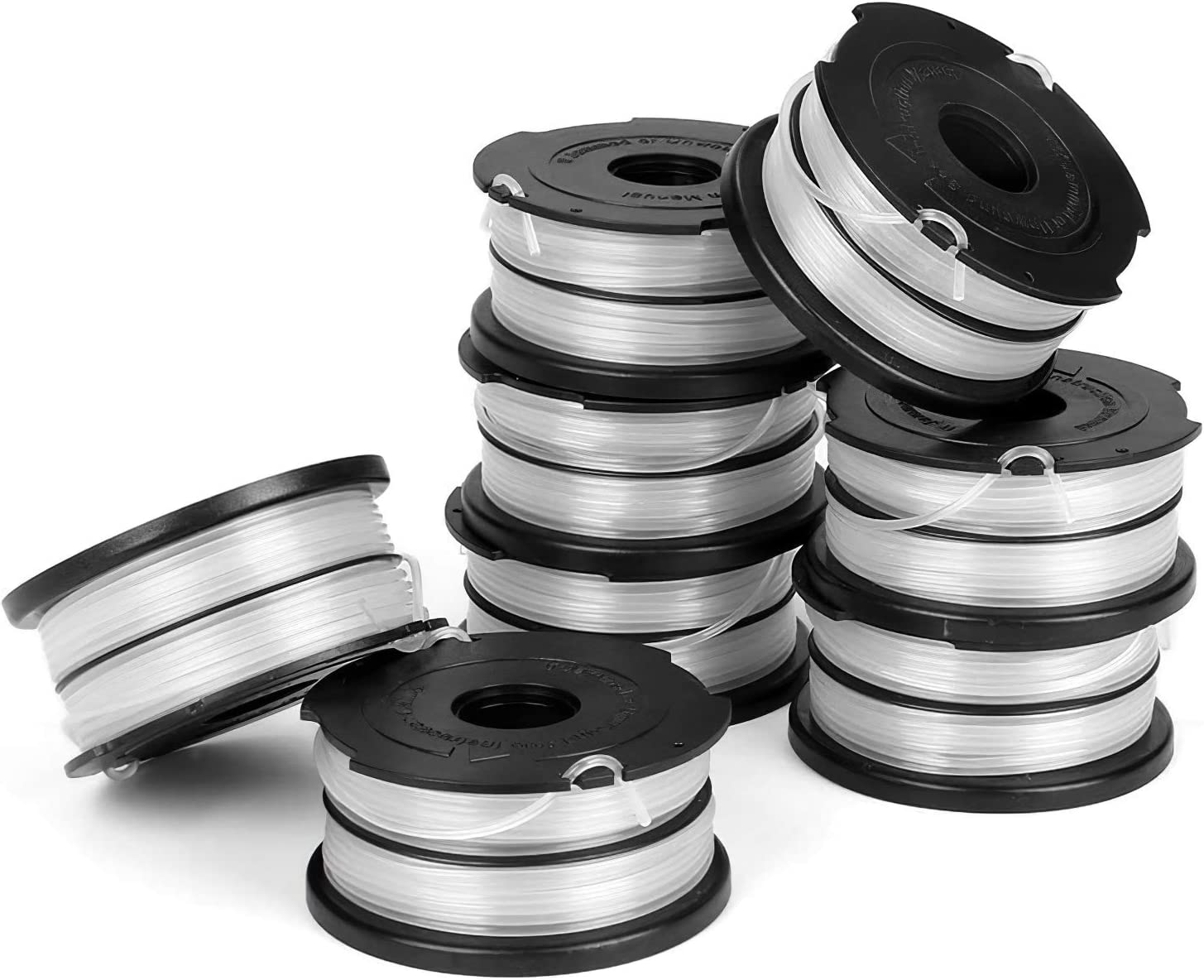 Dual Line Replacement Spool Compatible with DF-065 Black Decker Weed Eater Spool,Compatible with GH710 GH700 GH750 Black and Decker Trimmer,0.065-36ft Trimmer Line Replacement Autofeed Spool 12 Pack