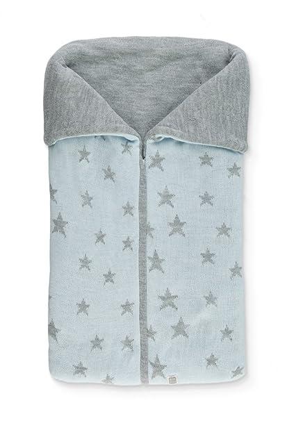 Saco Abrigo de Punto con Estrellas para Capazo del Bebé Celeste / Gris - Stern Minutus