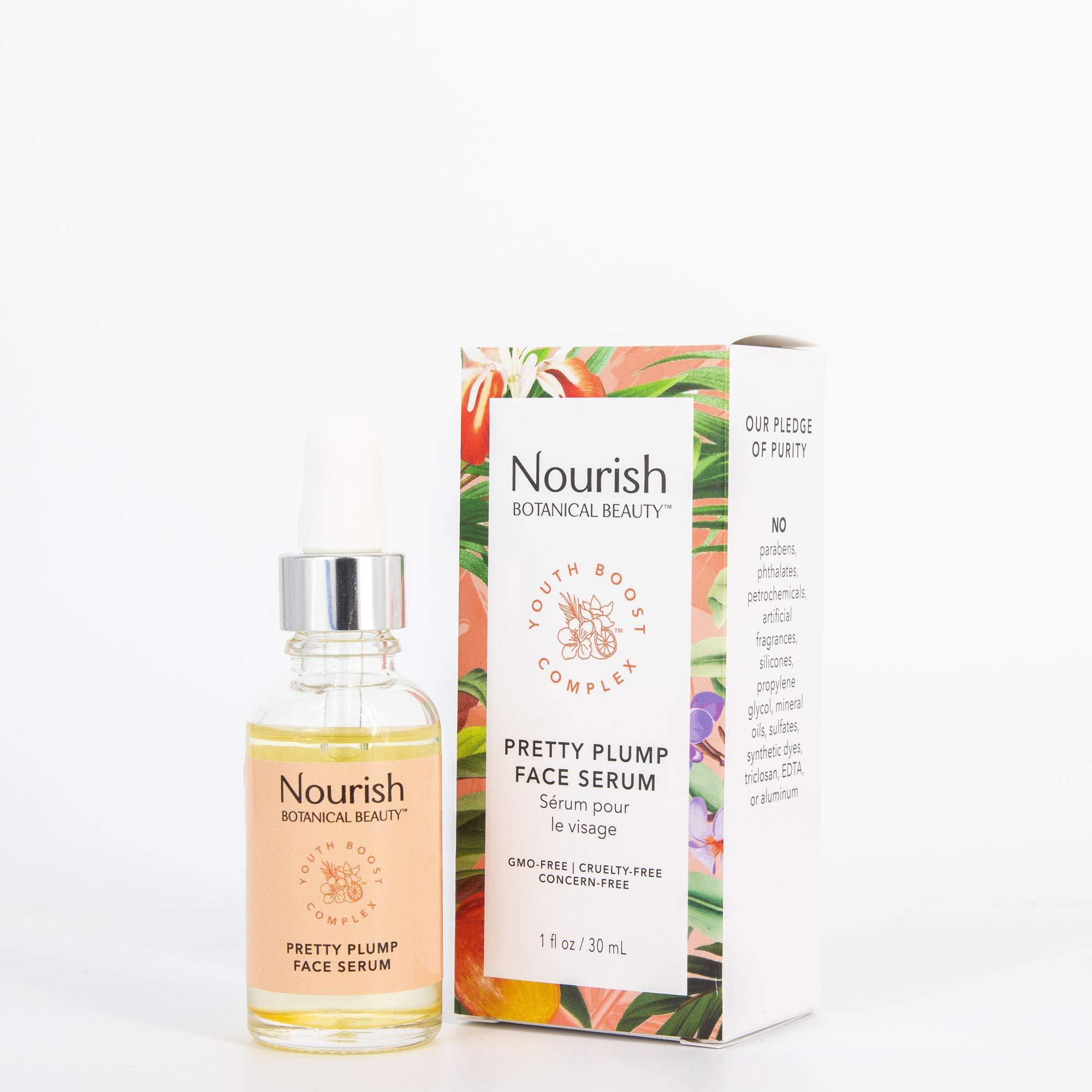 Nourish Botanical Beauty Pretty Plump Face Serum, 1