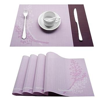 Top Finel 8er Set Umweltfreundlich Pvc Tischset Abwaschbar