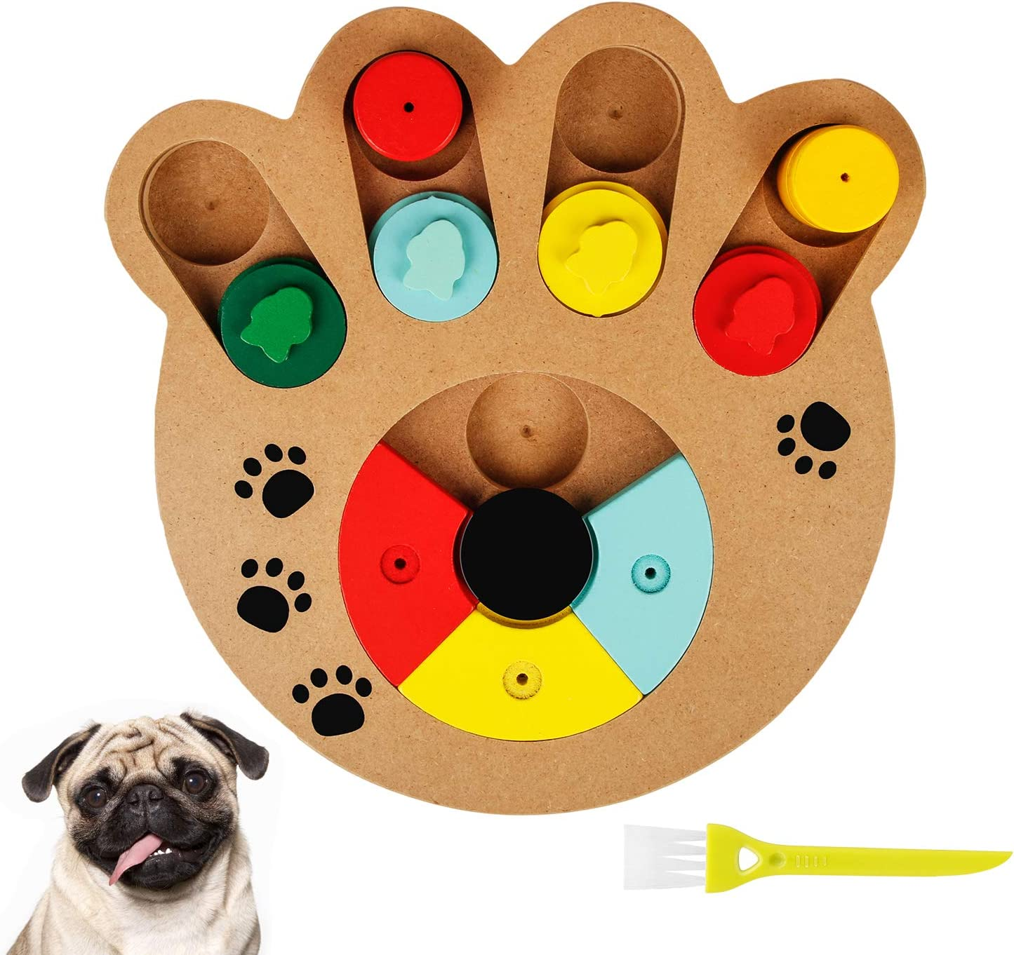 Dog Puzzle Toys for Large Medium Small Smart Dogs Puppies, Interactive Puzzle Game Dog Toys Pet IQ Treat Dispenser Slow Feeder Dog Food Puzzle Bowl - Treat-Dispensing Training Puzzle Dog Toy
