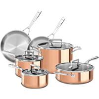 Deals on KitchenAid 10-Piece Copper Cookware Set with Lids