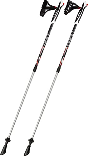 Leki Spin Nordic Walking Stick – Black, 39.3-51.1inch