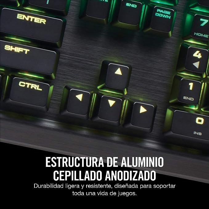 Corsair K70 RGB MK.2 Teclado Mecánico, USB, Alámbrico ...