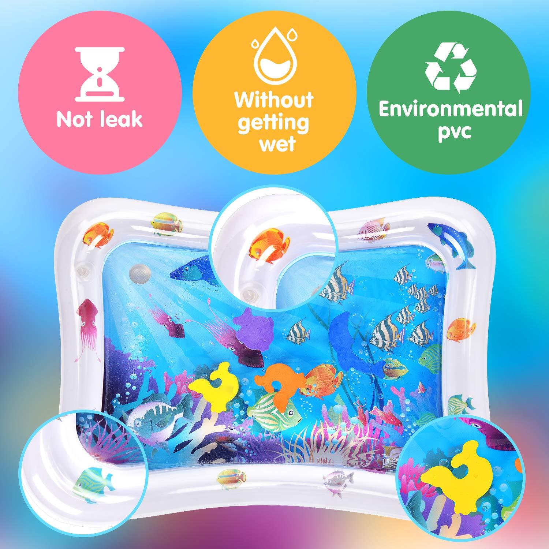 Victostar Alfombrilla de agua inflable con inflador para beb/és y ni/ños peque/ños Centro de actividades divertidas Juguetes sensoriales