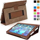 "iPad Air and New iPad 2017 9.7"" Case, Snugg - Distressed Brown Leather Smart Case Cover [Lifetime Guarantee] Apple iPad Air and New iPad 2017 9.7"" Protective Flip Stand Cover with Auto Wake / Sleep"