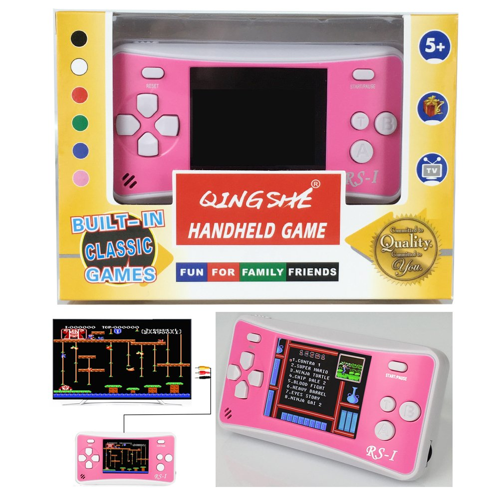 QINGSHE Retro Handheld Game Console for Kids,Classic Arcade Video Gaming  System Playstation, 2 5'' LCD Portable Game Player with The 90's 152  Classic
