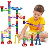 LOYO Marble Run Toy, Marble Runs STEM Educational Learning Toy, Marble Race Coaster Construction Railway Building Blocks Toy for Boys Girls 4 5 6 7 8 + Year Old
