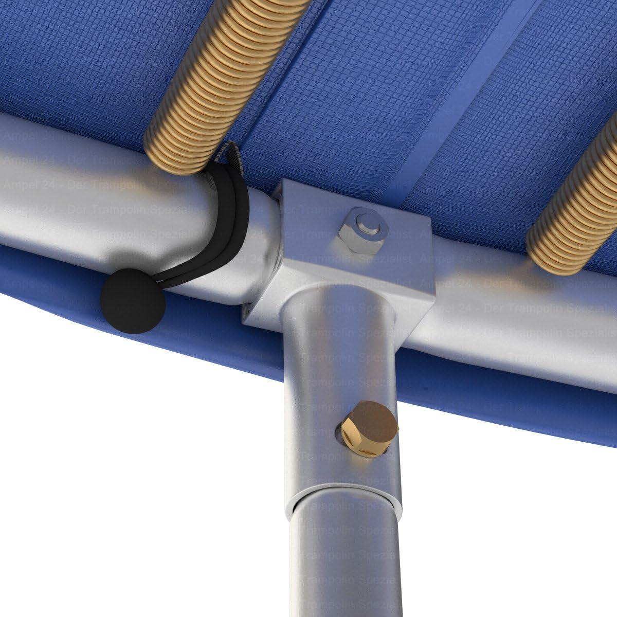 Cubierta de Bordes para Cama Elastica con un diametro de 305 cm 100/% Resistente a los Rayos UV Azul indesgarrable Ampel 24
