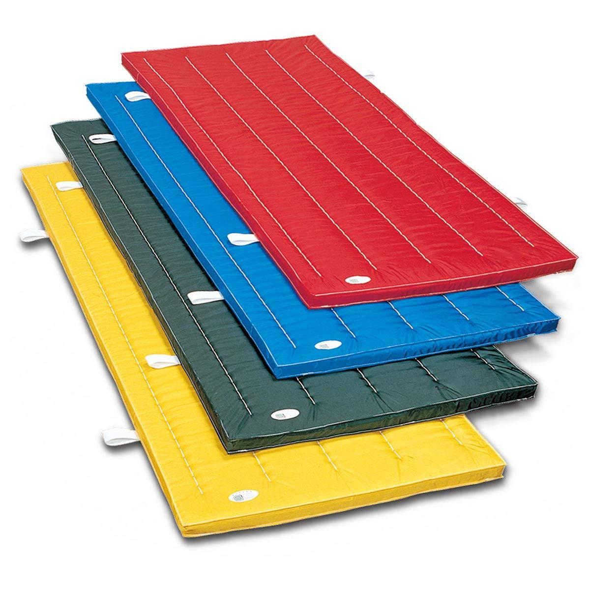 体操マット ナイロンカラーマット SGマーク付 体操カラーマット 90 × 240 × 厚5 cm B072PS7C3B ブルー
