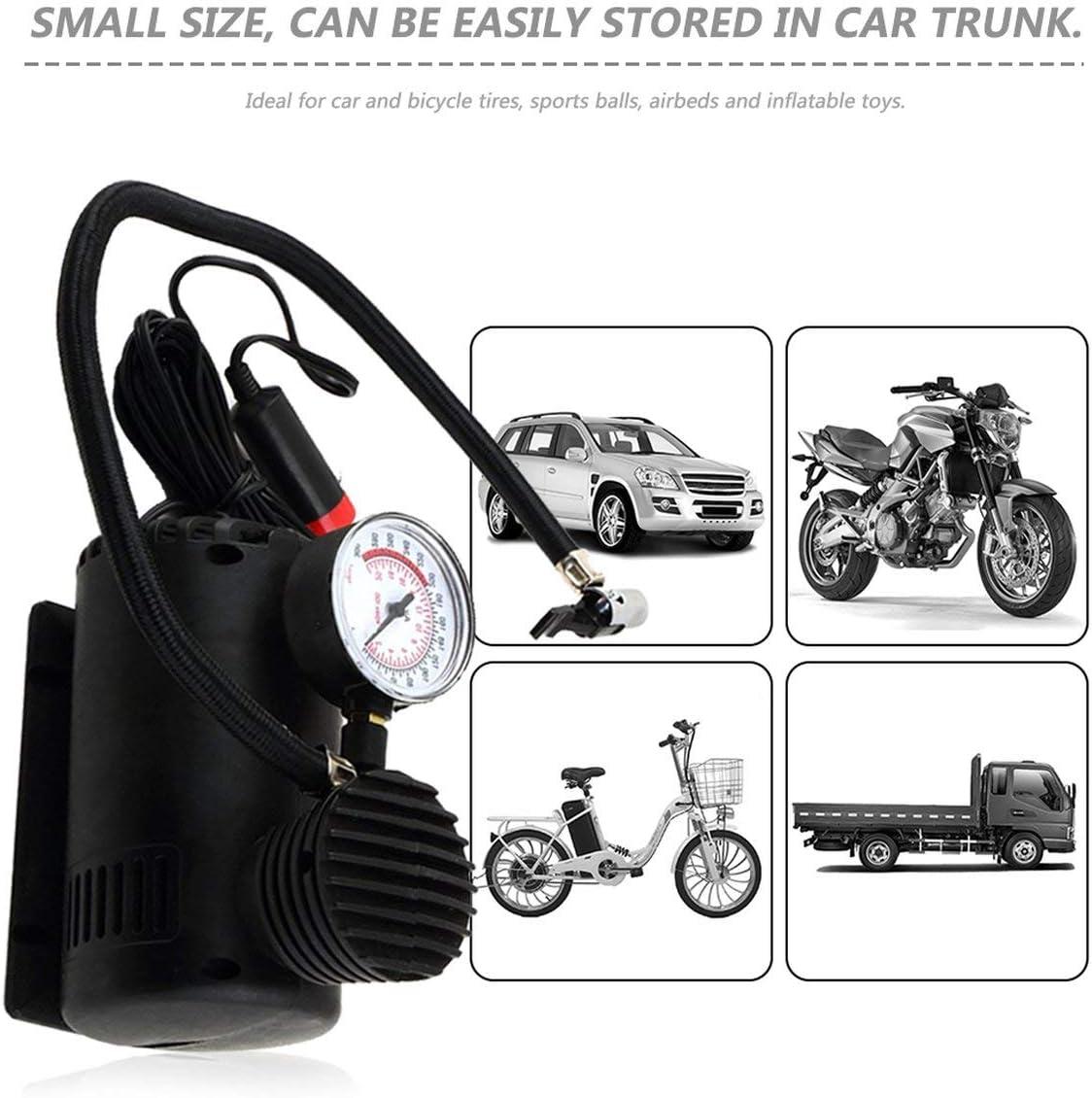 Nero Portatile Versatile 12V 300PSI Car Pneumatico Gonfiatore Pompa Mini Pompa Compressore Compatta Car Bike Pneumatico Aria Gonfiatore