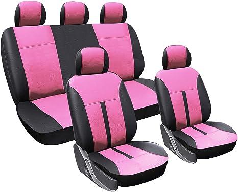 Auto Sitzbezug Schonbezüge Sitzbezüge für PKW ohne Seitenairbag Rosa AS7264rs