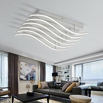 Henley LED Deckenleuchte Modern 78W LED Lampen Deckenbeleuchtung  Deckenstrahler Wohnzimmer Schlafzimmer Kreativ Lampe Acryl Weiß