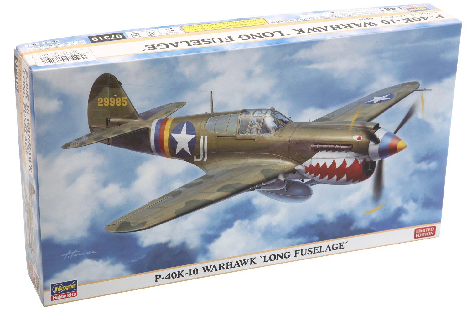 Hasegawa 07319 - 1/48 P-40K-10 Warhawk Long Fuselage