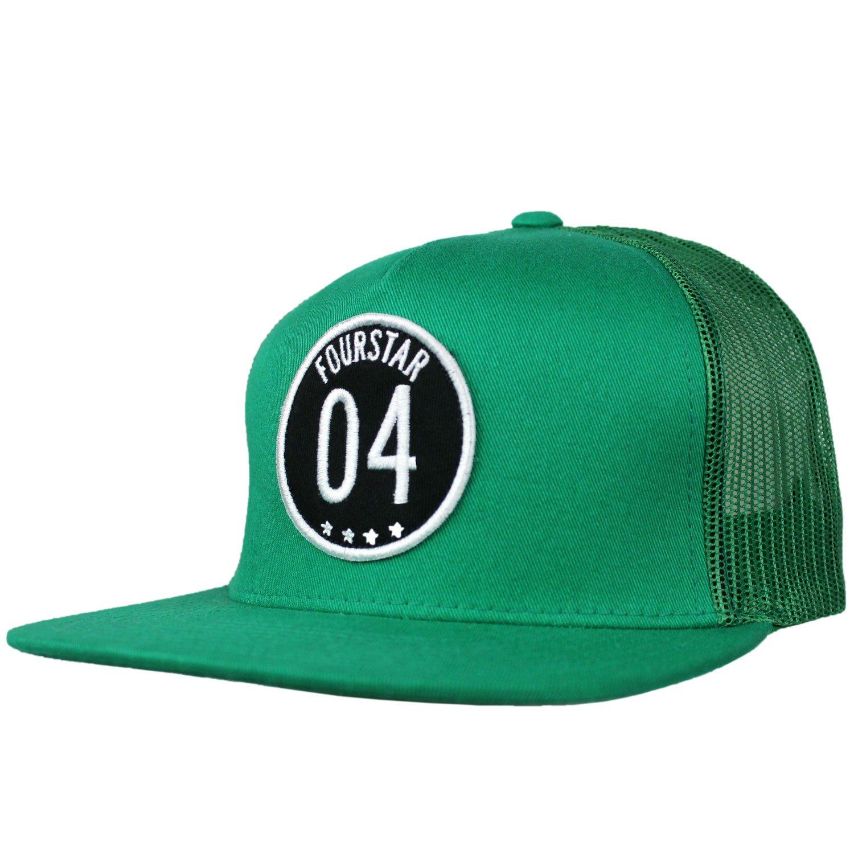 Fourstar Skate sombrero gorra de malla 04 parche verde: Amazon.es ...