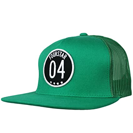 1584b61eaab Image Unavailable. Image not available for. Color  FOURSTAR Skateboard Hat  04 PATCH GREEN MESH SNAPBACK