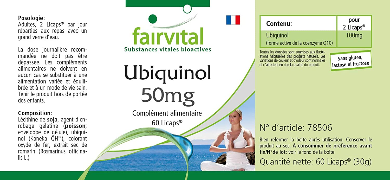 Ubiquinol 50mg - 60 cápsulas Kaneka QH - coenzima Q10 activa ...