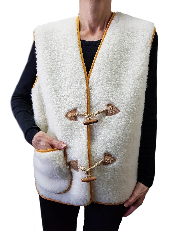 ABBRACCIO -M (Italia 44-46)- Gilet in 100% Pura Lana Merinos con Manicotto Scaldamani, Coprispalle Agnellato, Scaldaspalle per Inverno, Morbido e Confortevole - UNISEX Uomo Donna Beauty Program Italia S.r.l.