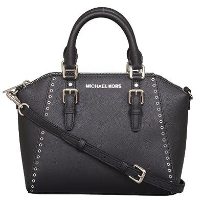 490a6005c55ccc Amazon.com: Michael Kors Ciara Grommet Medium Messenger Leather Bag: Shoes