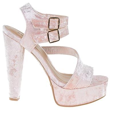 e9cdddc8384 Clarice42S BlushVel Chunky Block Heel Dress Sandal