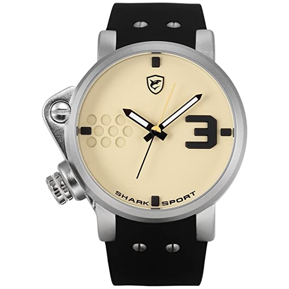 Shark SH520 Reloj Caballero Cuarzo Deportivo de Silicona Negro: Amazon.es: Relojes