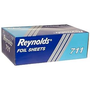 Reynolds Pop-up Interfolded Aluminum Foil Sheets, Silver, 500/Box, Case of 6, 3000 Sheet