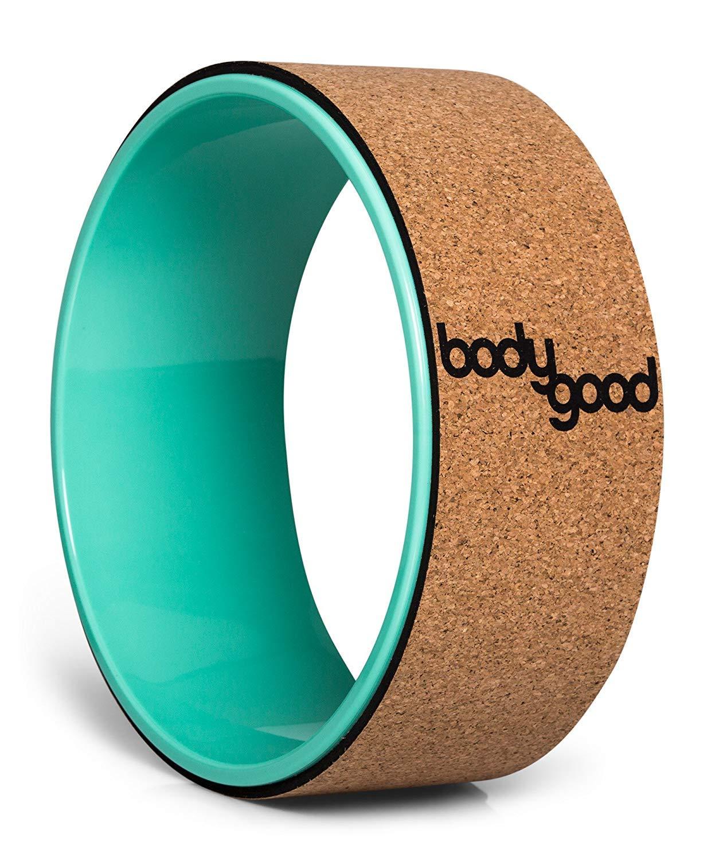 Cork//Turquoise BodyGood Rueda de Yoga Cork Yoga Wheel