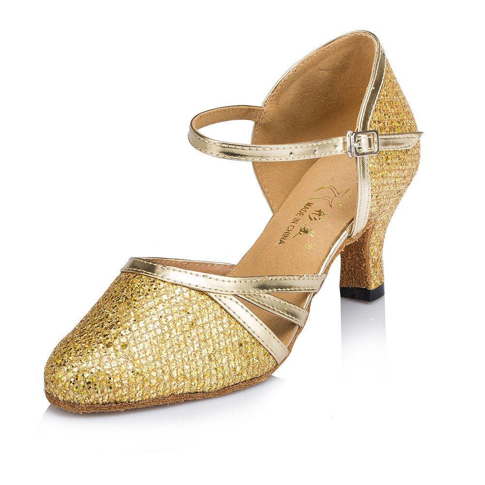 7cm Or 37 EU Chaussures Danse De Salon Latin Chaussures pour Femmes