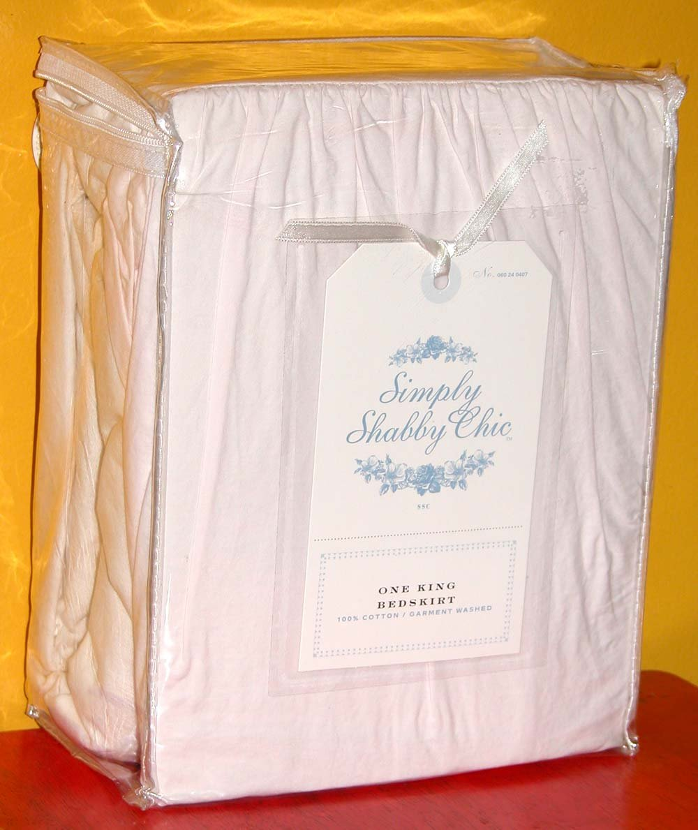 Simply Shabby Chicピンクベッドスカート – King B000F6XTZC