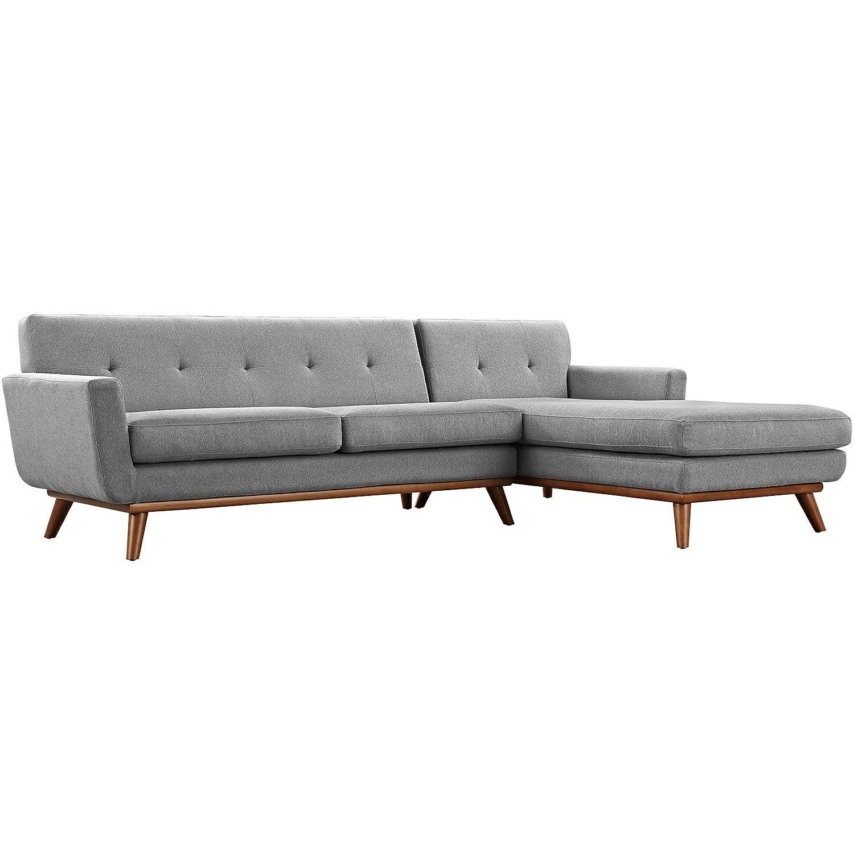 Amazon.com: Modway Engage Mid-Century Sofá seccional de tela ...