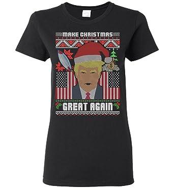make christmas great again donald trump ugly sweater womens tshirt