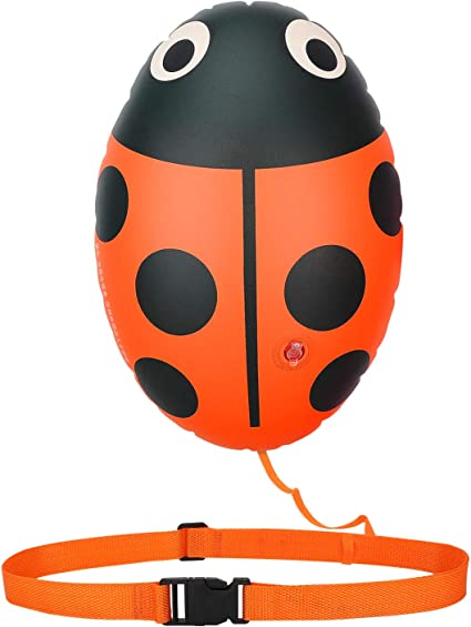 High Visible Safety Swim Bubble Inflatable /& Floating Swim Buoy Float for Open