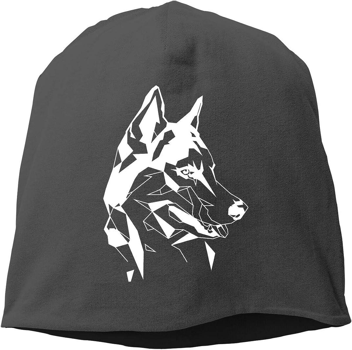 Husky Pattern Unisex Knitted Hat Beanie Hat Warm Hats Skull Cap