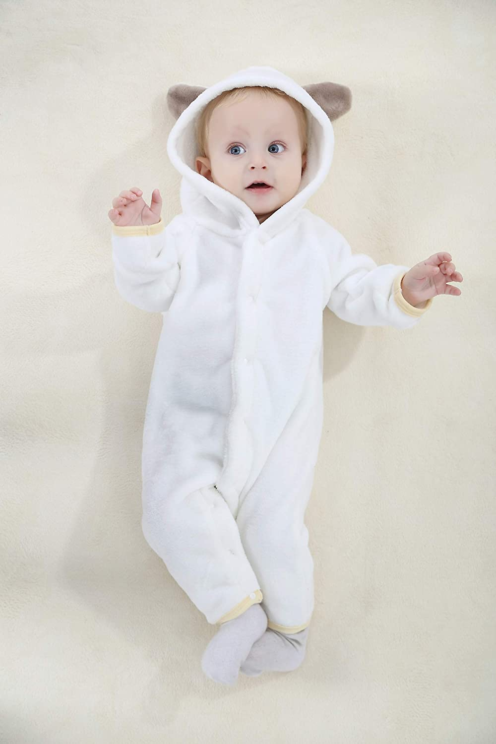 Baby Girls Boys Romper Bear Style Jumpsuit Outfit Hoody Coat Cosplay Clothes Infant Rompers Toddler Clothing