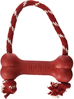 KONG Dental with Rope - Durable Rubber, Teeth and Gum Cleaning Dog