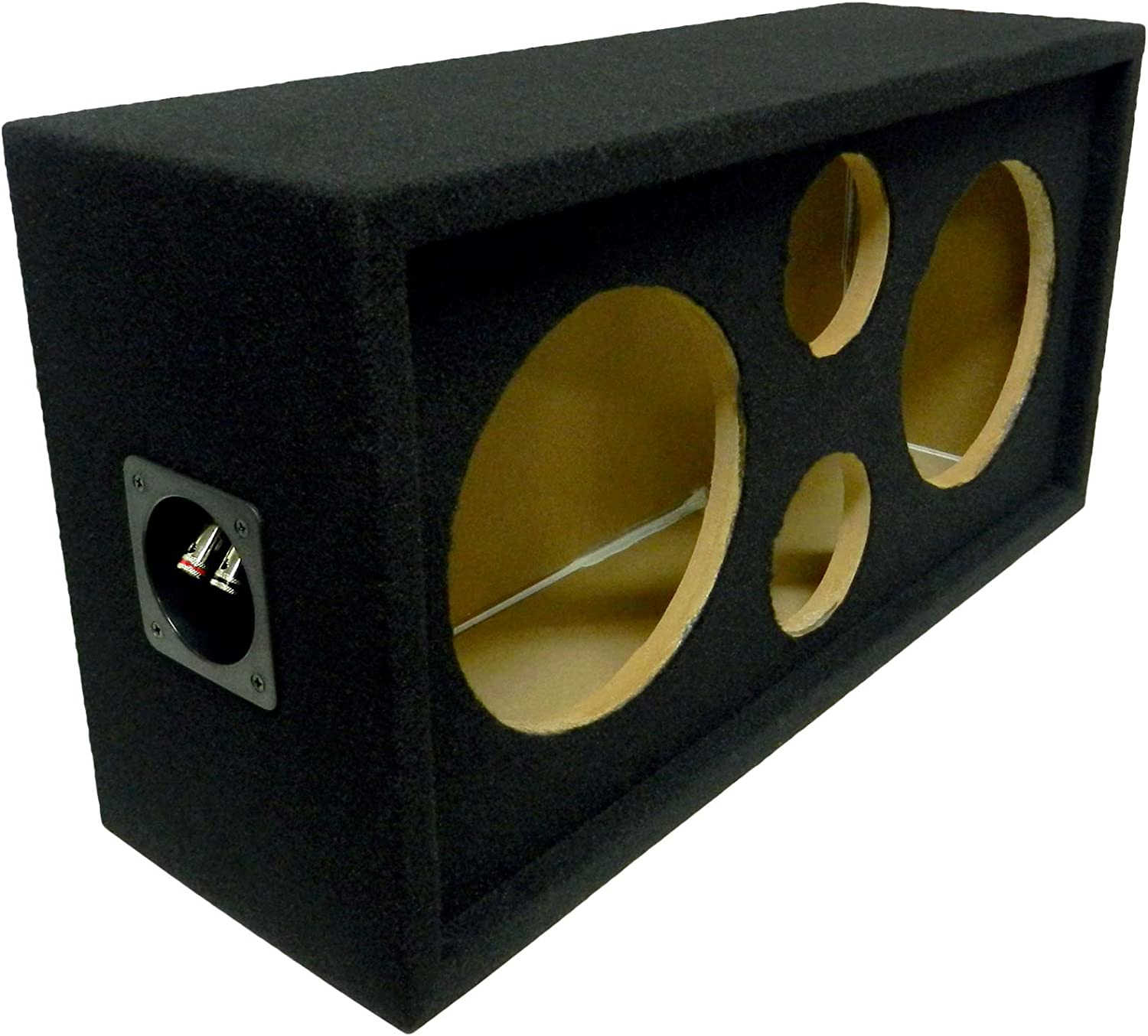 Events and Shows Bass Rockers DJ Speaker Box for The Car Home Fits Two 8 Speakers and Two 3.75 Tweeters Makes Installs Clean and Super Easy BRCH8