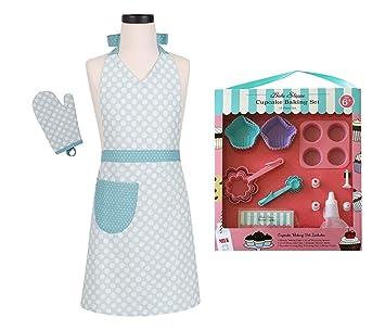 Niño de utensilios para hornear cupcakes y delantal/manopla para horno: Amazon.es: Hogar