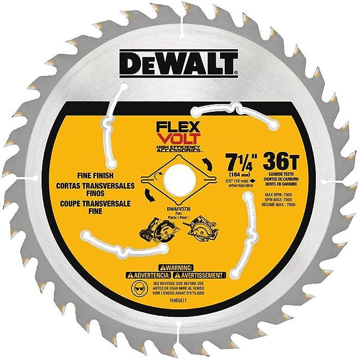 """DEWALT DWAFV3736 Flexvolt 36T Circular Saw Blade, 7-1/4"""""""