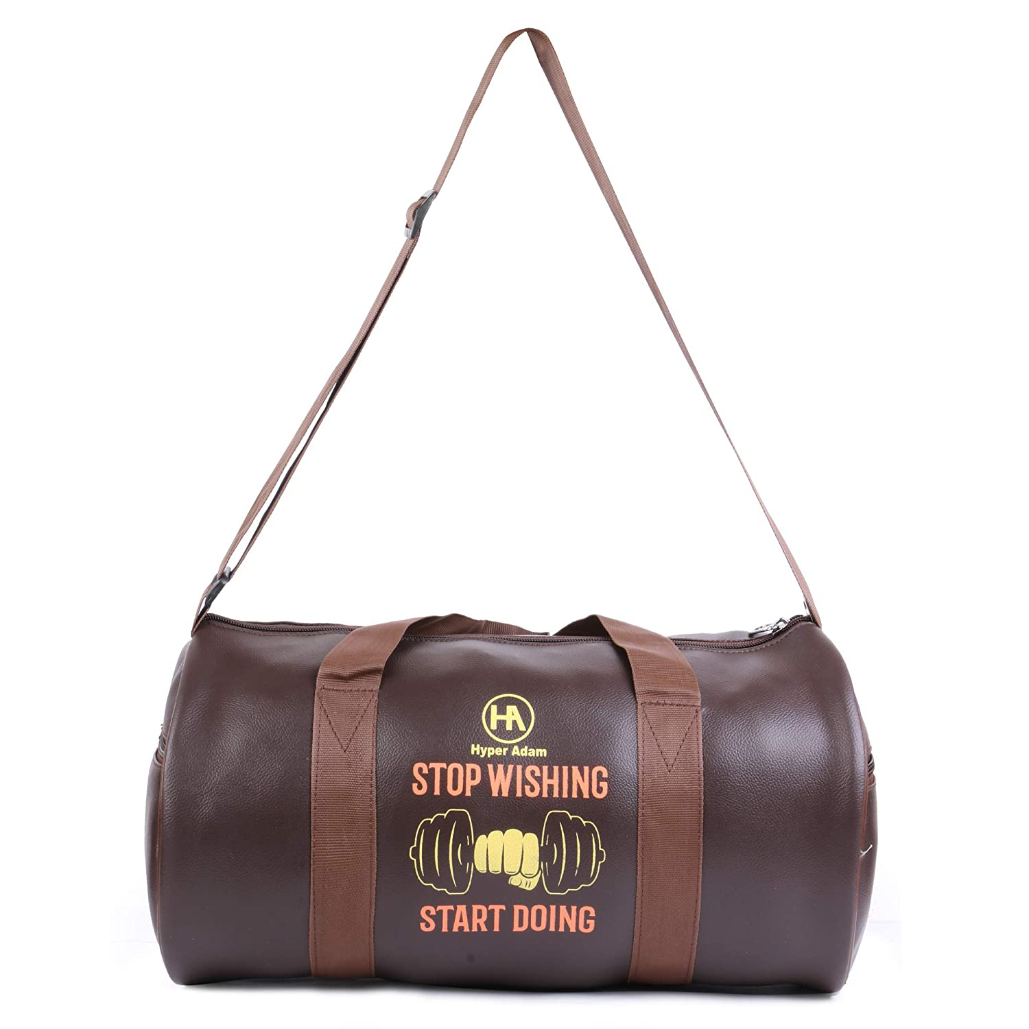 a64f39c410dd Hyper Adam Unique Travel Duffel Leather Gym Bag with 2 Side Pocket (16  Inch