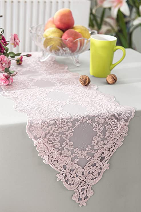 Vintage Embroidered Lace Table Runner Christmas Party Dining Home Decor 40x180cm