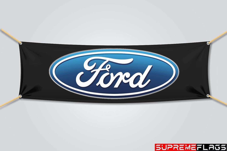 Brand New Ford Flaggen Banner Für Autos Rennen Werkstatt 45 7 X 147 2 Cm Sport Freizeit