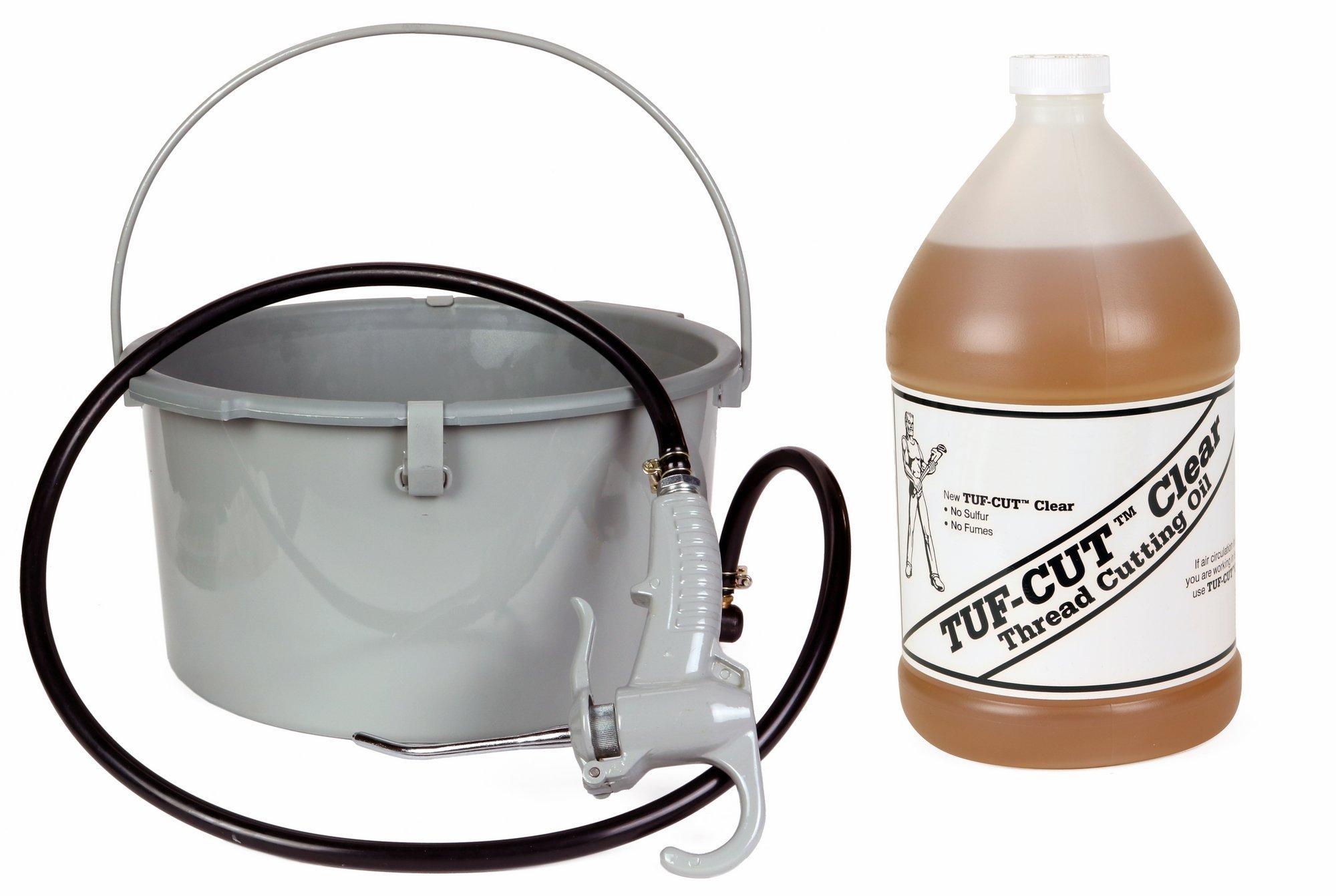 Toledo Pipe 418 Oiler 10883 & 1 Gallon of Tuf-Cut Clear Oil fits RIDGID 300 535 700 12R 690 Pipe Threading Machine
