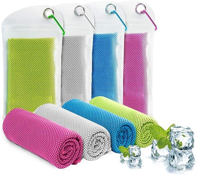 90 x 30 cm Reise Diealles Shine K/ühlhandtuch Cool Towel Yoga K/ühlendes Handtuch Set Sofortige Relief Eiskalt K/ühlen Handtuch Atmungsaktives Mesh Schwei/ßsaugf/ähig f/ür Reisen Fitness