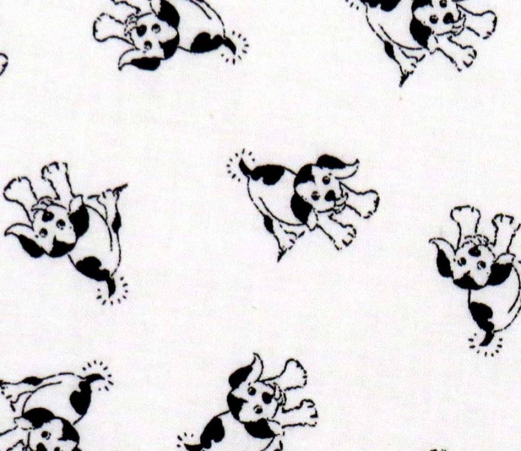 SheetWorld Crib Skirt (28 x 52) - Doggies - Made in USA