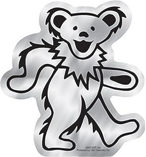 3cm Grateful Dead Bear Metal Sticker Gold