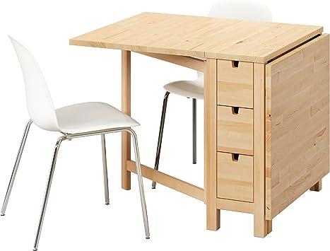 Zigzag Trading Ltd Ikea Norden Leifarne Table Et 2 Chaises Birch Blanc Chrome Amazon Fr Cuisine Maison